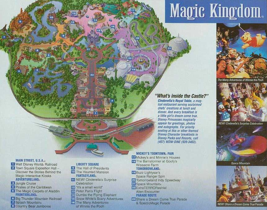 Intercot: A Virtual Guide To Walt Disney World - Magic Kingdom Map